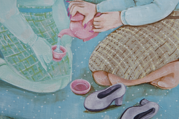 """Serving Tea To My Double"" (detail)"